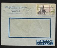 AEF Lettre Par Avion Les Comptoirs Africains Brazzaville 2/6/1953 P.A. N°56  Flamme Foire Exposition  B/TB - Lettres & Documents