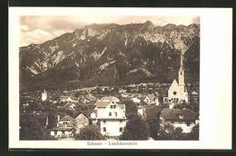CPA Schaan-Liechtenstein, Vue Générale Avec Gebirgspanorama - Liechtenstein