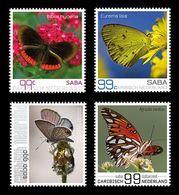 Caribbean Netherlands (Saba) 2016 Mih. 28/31 Fauna. Butterflies Of Saba MNH ** - Curaçao, Antilles Neérlandaises, Aruba
