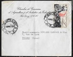 AEF Lettre Chambre De Commerce Agriculture Et Industrie Fort Lamy Le 14/05/1951 Poste Aérienne N°55    B/TB - Lettres & Documents