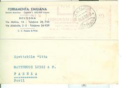 FERRAMENTA EMILIANA,BOLOGNA, AFFRANCATURA ROSSA Cent.30,POSTE ITALIANE CON FASCI, - Machine Stamps (ATM)