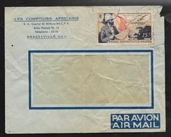 AEF Lettre Par Avion Les Comptoirs Africains Brazzaville Le 14/03/1953 Poste Aérienne N°55    AB/B - Lettres & Documents