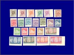 ALGERIE  Yvert:34/56 (sauf 40), Non Dentelés Sur Papier épais Glacé, 22 Valeurs      - Qualité: (X) - Algeria (1924-1962)