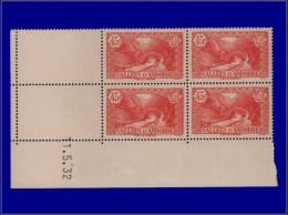 ANDORRE  Yvert:34, Bloc De 4, Cd 11/5/32: 45c. Rouge      - Qualité: XX . Cote: +132 - Stamps