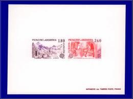 ANDORRE Epreuves De Luxe Yvert:313/14, épreuve Collective, (tirage 25): Europa 1983      - Qualité: EPL - Stamps
