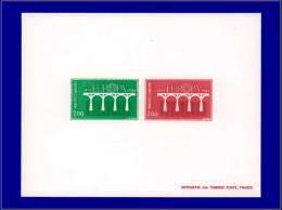 ANDORRE Epreuves De Luxe Yvert:329/30, épreuve Collective, (tirage 25): Europa 1984      - Qualité: EPL - Stamps