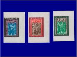 ANDORRE Non Dentelés Yvert:214/6: Chapelle St. Jean      - Qualité: XX . Cote: 70 - Stamps