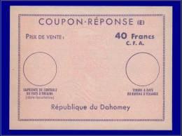 BENIN Coupons Réponse Yvert:CRFR 6, Coupon 40f. Cfa, Légende Dahomey (1965)      - Qualité: N - Benin (1892-1894)