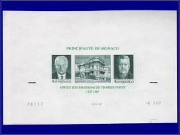MONACO Blocs Feuillets Yvert:39, Essai Grand Format, Cd 9/7/87: 50°aire Office Des Postes      - Qualité: ESS - Monaco