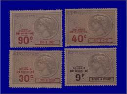 """NOSSI-BE Fiscaux Yvert:Effets, 4 Timbres Avec Surcharge """"""""épreuve"""""""": 30c - 40c - 90c - 9f.      - Qualité: ESS - Nossi-Be (1889-1901)"""