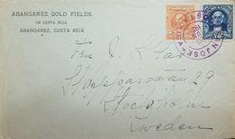A) 1921 ABANGAREZ - SAN JOSE - SWEDEN, FRANKED ENV, VF GOLD FIELDS. - Suède