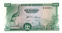 Uganda, 100 Shillings 1966, UNC - Uganda