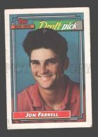 088890 Baseball Topps CARD 1992 Jon Farrell Major League #9 - Baseball - Minors