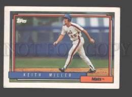 088895 Baseball Topps CARD 1992 Keith Miller Mets #157 - Baseball - Minors