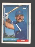 088900 Baseball Topps CARD 1992 Hector Villanueva Cubs #181 - Baseball - Minors