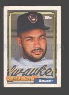088914 Baseball Topps CARD 1992 Franklin Stubbs Brewers #329 - Baseball - Minors