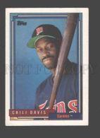 088916 Baseball Topps CARD 1992 Chili Davis Twins #118 - Baseball - Minors