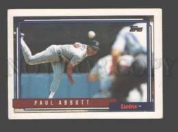 088923 Baseball Topps CARD 1992 Paul Abbott Twins #781 - Baseball - Minors