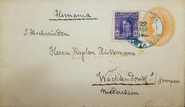 A) 1922 (22 APR) TOCALPA - GERMANY, 5C STAT ENV + ADTLS, BLUE CDS, VF. - Germany