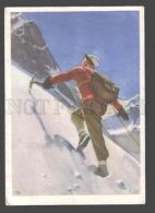 091934 Climber By S. Shilnikov Old Russian Colorful PC - Postcards