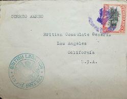 A) 1947 SAN JOSE - USA, BR CONSULAR MAIL, FKD EN + CACHET ON FRONT , VF. - Etats-Unis