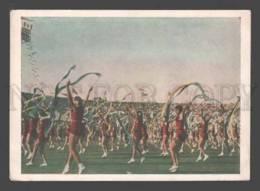 093044 USSR Moscow Sports Parade 1954 Tadjik Athletes Old - Cartes Postales