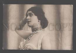 097321 Lina CAVALIERI Italian OPERA Star Vintage PHOTO Tinted - Opéra