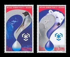 Moldova 2009 Mih. 645/46 Protection Of The Polar Areas And Glaciers. Fauna. Penguin. Polar Bear MNH ** - Moldova