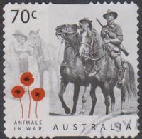 AUSTRALIA - DIE-CUT - USED 2015 70c Centenary Of Service - Animals In War - Horses - 2010-... Elizabeth II