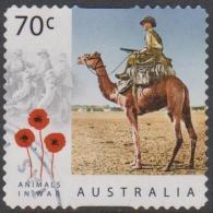 AUSTRALIA - DIE-CUT - USED 2015 70c Centenary Of Service - Animals In War - Camels - 2010-... Elizabeth II