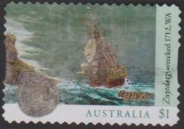 AUSTRALIA-DIE-CUT-USED 2017 $1.00 Ship Wrecks - Zuytdorp 1712 - 2010-... Elizabeth II