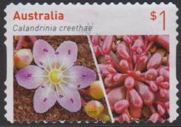 AUSTRALIA-DIE-CUT-USED 2017 $1.00  Australian Succulents - Calandrinia Creethae - 2010-... Elizabeth II