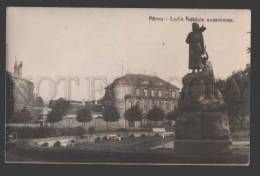114901 Estonia PARNU Lydia Koidula Monument Vintage Photo PC - Estonia