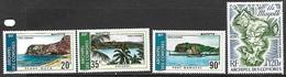 Comoro Islands  1974  Sc#C62-5    Views Set  Airmail  MLH*   2016 Scott Value $18.95 - Comoro Islands (1950-1975)