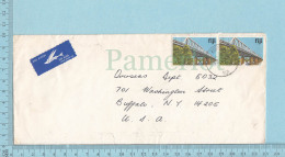 Fiji, Fidji , 1983,  Bridge Nauson, Air Mail To Buffalo N.Y. USA - Fidji (1970-...)