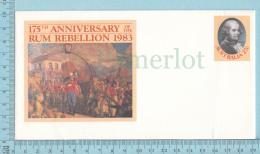 Australia -175 Th Anniversary Of The Rum Rebellion 1983, Postal Stationary  27¢ - Vins & Alcools