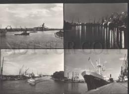 118843 Poland SZCZECIN Port & Ships Collection Of 7 Postcards - Polen