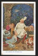 116692 Sleeping Beauty OWL GNOME By FB BAUMGARTEN Vintage PC - Baumgarten, F.