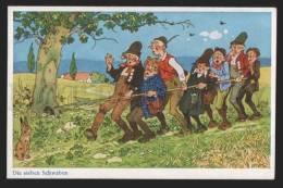 116697 Seven Swabians Grimm Fairy Tale By BAUMGARTEN Vintage - Baumgarten, F.
