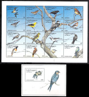 7660  Oiseaux - Birds - Georgia - Sheetlet + Block - MNH - 4,85 - Vogels