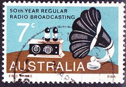 Australien Australia - 50 Jahre Rundfunkübertragung (MiNr:541) 1973 - Gest Used Obl - 1966-79 Elizabeth II