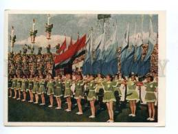 132703 USSR 1955 All-Union Sports Parade Athletes In Moscow - Cartes Postales