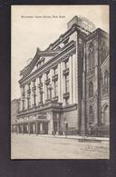 CPA USA - NEW YORK CITY - Manhattan Opera House - TB PLAN EDIFICE MUSIQUE Spectacles + TB Oblitération Verso 1910 - New York City