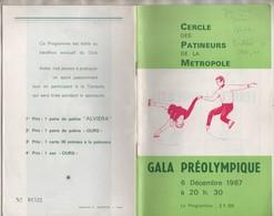 CROIX 59 NORD  CERCLE DES PATINEURS DE LA METROPOLE, GALA PREOLYMPIQUE 1967 ( PROGRAMME NUMEROTEE ) VOIR LES SCANNERS - Skating (Figure)