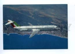 133305 ALITALIA Douglas DC-9/30 With ADVERTISING Old Postcard - 1946-....: Moderne