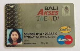 Indonesia Creditcard - MAESTRO (BANK BALI) With Picture Identity (Used) - Credit Cards (Exp. Date Min. 10 Years)