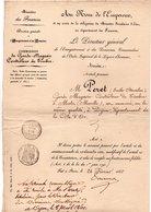 ADMINISTRATION DE L'ENREGISTREMENT ET DES DOMAINES. Nomination De METZ à DIJON De PÉRET Émile 1860 - Réf. N°67F - - Manuscripts