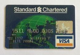 Indonesia Creditcard - VISA STANDARD CHARTERED BANK (Used) - Geldkarten (Ablauf Min. 10 Jahre)