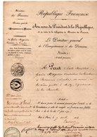 ADMINISTRATION DE L'ENREGISTREMENT ET DES DOMAINES. Nomination De Besançon à Metz De PÉRET Émile 1852 - Réf. N°68F - - Manuscripts