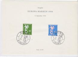 Europa Cept, BRD Nr. 295/96, Amtl. Sonderblatt (A 100) - Europa-CEPT